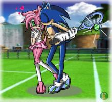 SonAmy Love in... Tennis by FallenAngelCam7