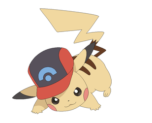Sinnoh Cap Pikachu lineart by michy123