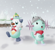 PMD-E Secret Santa Pic - New Snowfall by TheGoldenPika