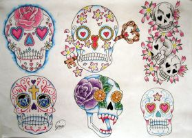 Sugar Skulls by BeautyLoveDivine