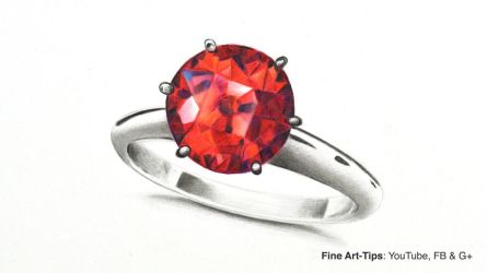 How to Draw a Ruby Ring With Color Pencils by ArtistLeonardo