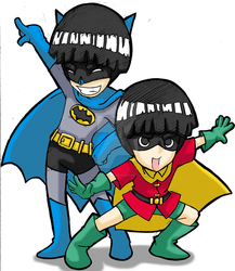 Batman and Robin? by forte-girl7