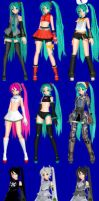 Miku DT and DT 2nd Models finish FINALLY!! by PiccolaGoccia