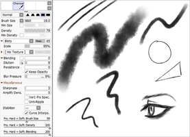 Paint Tool Sai 2 Charcoal Brush by Xxombi