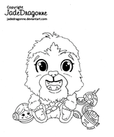 Baby Chewy Doodle by JadeDragonne