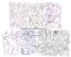#366 Days of Sketches - 237-243 - Practice by SatraThai