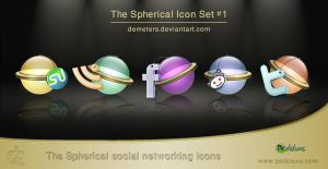 Social Networking icons set [update] by demeters