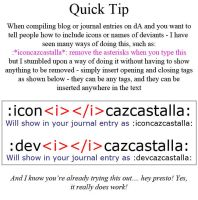 Blog-Journal Writing Quick Tip by cazcastalla