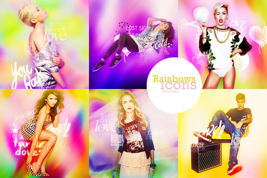 Rainbows Icons by CandyBiebs