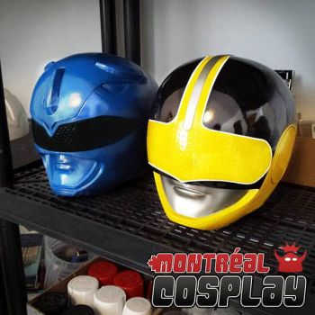 Blue MMPR  Yellow Time Force by MontrealCosplay