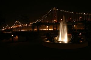 GG Bridge and Fountain by Artfoundry
