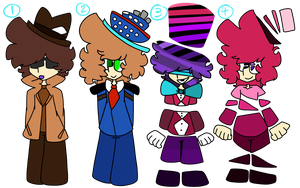 small people with hats {Adopts CLOSED!!!!} by DreamzScape