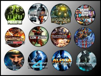 Game Icons XV by sirithlainion