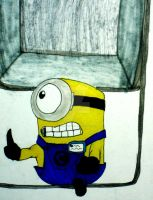 Almost Smashed Minion by InkArtWriter
