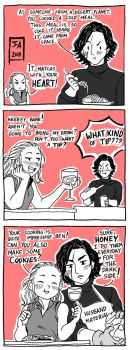 Star Wars Reylo Comic Dinner by Nekokoro-chan