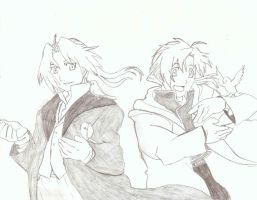 Elric Brothers by Okabe001