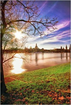 Flood waters in Dresden by Torsten-Hufsky
