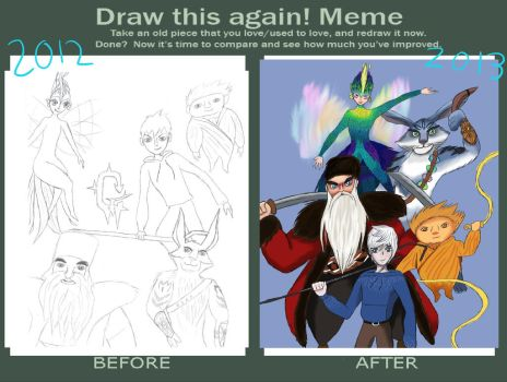 Draw This Again: Rise of the Guardians by fantasylover99