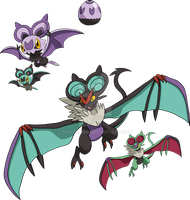 714 and 715 - Noibat Evolutionary Family by Tails19950