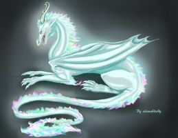 Ice dragon by SilanaVerley