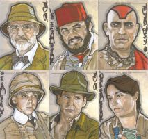 Indiana Jones return cards by NORVANDELL
