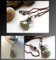 Element Of Earth- wire wrapped copper necklace by mea00