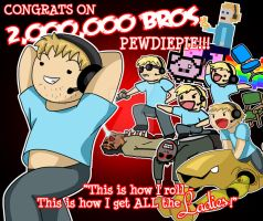 2,000,000 BROS!!! by Foxy-Sketches