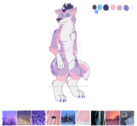 (CLOSED) Pastel Arctic fox by Mochathespoongirl