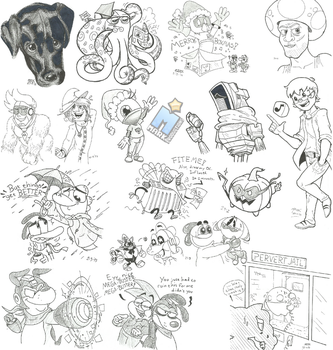 Sketches #38 - There's a dog in this one by MarkProductions