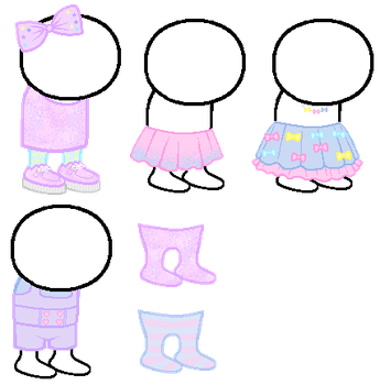 Fairy Kei Homestuck Sprite Outfits by Pastellilapsi
