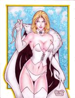 Emma Frost (White Queen) (#4) by Rodel Martin by VMIFerrari