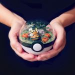 Dedenne Pumkin Patch - Poke Ball Terrarium by TheVintageRealm
