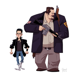 Eleven and Hopper by pungang