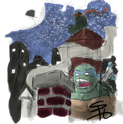 quick sketch of tmnt... by ScruffyScribbler