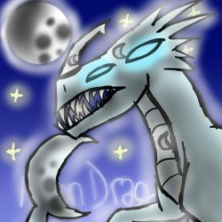 Moon Dragon by Da-Drawing-Cat-601