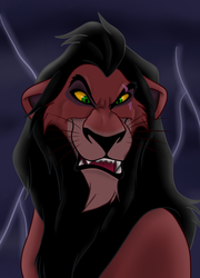 Scar_Coloring Book Contest Entry for Disney-Club by SolitaryGrayWolf