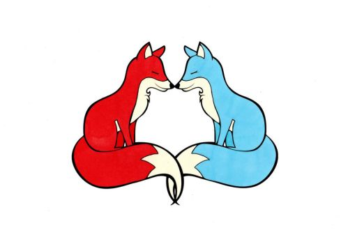 Fox Love Colored by Maiko-Girl