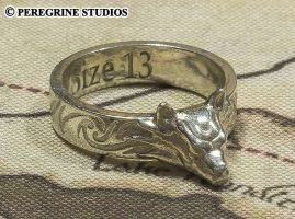 Hircine's Ring (Polished Silver) by PeregrineStudios