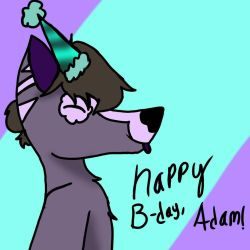 Happy birthday Adam! by DeathwingJustDraws