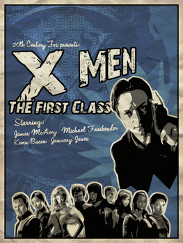 X-Men: The First Class poster by PretentiousHousefly