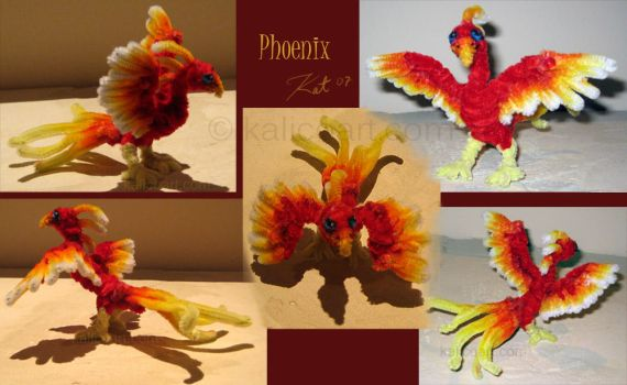 Phoenix -- Pipe Cleaners by kalicothekat