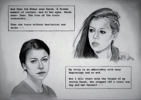My Story (Orphan Black Drawing) by julesrizz
