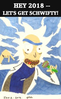 Jan 1 2018 - Rick and Morty by Paul-A-Newman