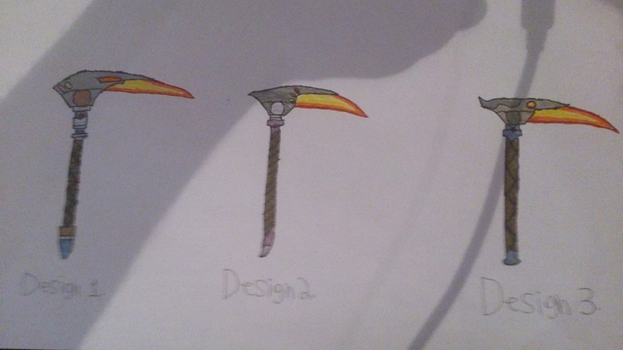 Virion: Jason's Plasma-sickle designs by DioJoestar0