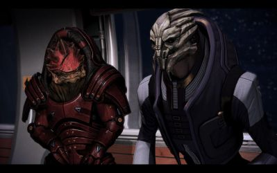 ME3 Normandy - Wrex and Victus by chicksaw2002