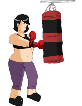 FWP: Punching bag workout by RedStars7