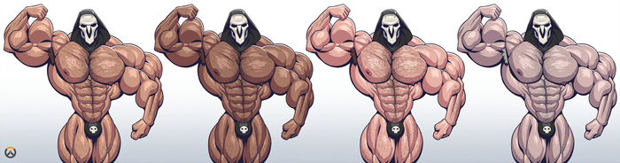 Overwatch: 4 Shades of Reaper by TheFabulousCroissant