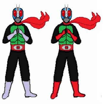 Kamen Rider 1 and 2 by dondepp