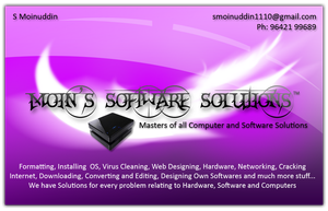 Moin's Business Card 1 Purple by smoinuddin1110