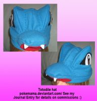 Totodile hat by PokeMama